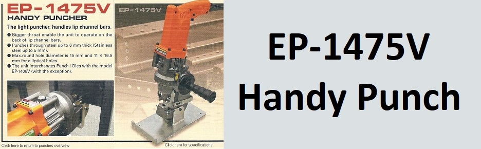 EP-1475V Portable steel punches, handy puches