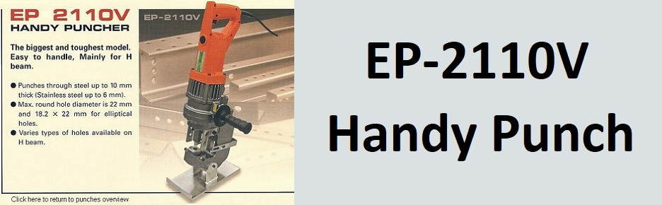 EP-2110V Portable steel punches, handy puches