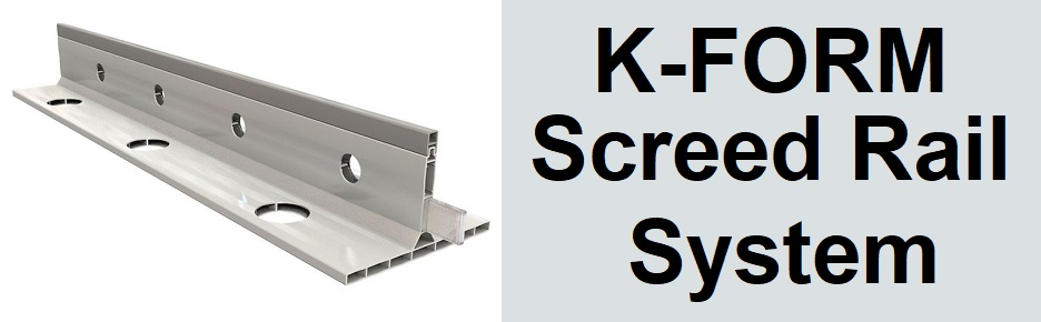 K-FORM Screed Rail System