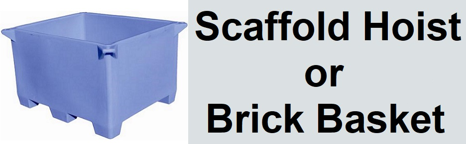 Brick Basket or Scaffold Hoist