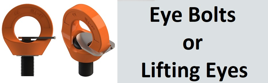 Eye bolts, swivel lifting eyes, swivel hoists, hoist rings
